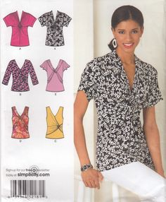 Simplicity 2181 Misses Knit Tops Sewing Pattern - Womens Clothing Sewing Pattern- Uncut Sewing Pattern by SimplyCraftSupplies on Etsy