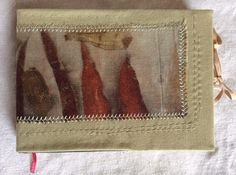 Eco dyed panel - book cover. Ann Stephens