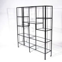 Metal And Glass Etagere - Foter