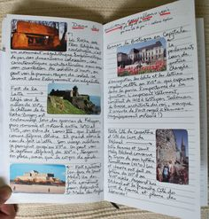 My daughters' travelling notebook that went to France.