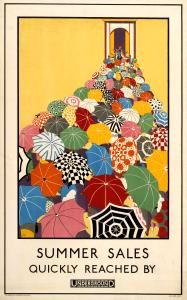 Sylish London Underground art from the twenties... Wish the tube was still this fabulous... except without the smoking and flammable wooden escalators.