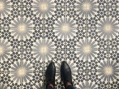 From where I stand, Strada cement tile by Tabarka Studio