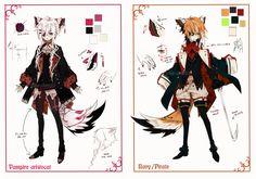 [CLOSED] Semi-chibi adopt 9 and 10 by Piku-chan21.deviantart.com on @deviantART