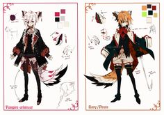 [CLOSED] Semi-chibi adopt 9 and 10 by Piku-chan21.deviantart.com on @deviantART