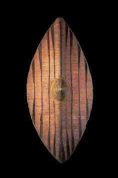 Escudo de mimbre, pueblo ganda - Uganda