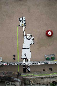 graffitis bansky