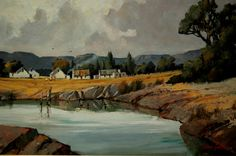 River - Midlands - oil John Smith, South Africa, Paintings, Oil, River, Street, Gallery, Building, Artist