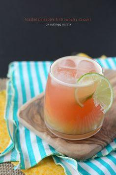 Roasted Pineapple & Strawberry Daiquiri by Nutmeg Nanny
