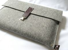 Felt/leather Macbook Pro sleeve, $72