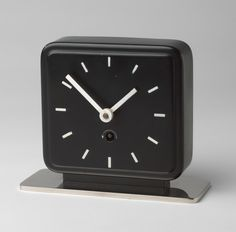 Table Clock, Marianne Brandt, c. 1930. Painted and chrome-plated metal. (From MoMA - http://www.moma.org/collection/works/1513?locale=en)