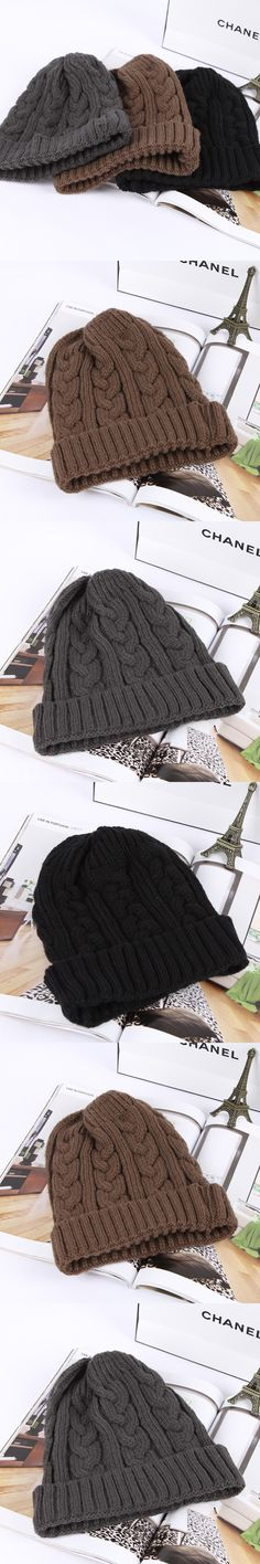 619c488f Winter Hat Hot Sale Cotton Acrylic Adult Unisex Casual Striped Knitted Cap  2016 New Knitting Hat Fashion Skullies Beanies