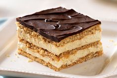 Super easy. Layers of vanilla pudding and Cool Whip along with sweet graham crackers stack up to the most popular dish at the potluck. Sorry, other squares.