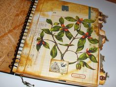 COUNTRY COTTAGE STUDIO: VINTAGE BOTANICAL ART JOURNAL