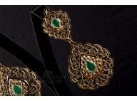Bijoux Design, Indian Earrings, Bling, Brooch, Couture, Accessories, Fashion, Moroccan Jewelry, Gold Jewelry