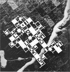 "Japanese architect Kisho Kurokawa survived the Ise Bay Typhoon in 1959 and his experience inspired the design for an ""Agricultural City"" (1960). This megastructure project consists in a grid-like structure of concrete slabs raised on 4 m stilts on the agricultural soil and is meant to..."