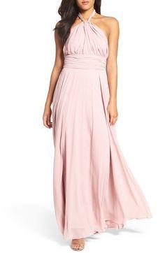 Main Image - Lulus Chiffon Halter Gown