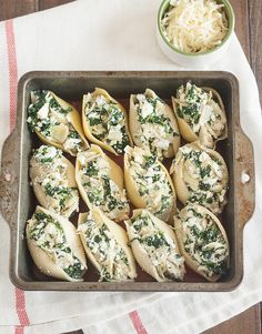 Spinach, Artichoke, and Feta Stuffed Shells