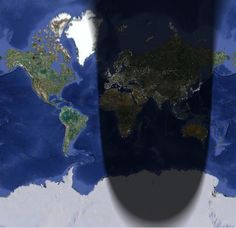 Map of Daylight / where the sun hits. maybe realtime world instagram ...