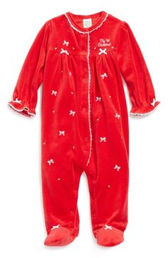 8861e846d8 Little Me  My First Christmas  Velour One-Piece (Baby Girls) available