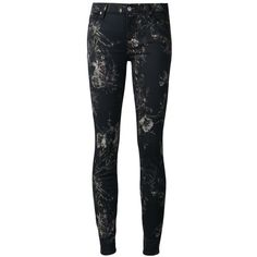 Denim stretch cotton floral jeans from 7 For All Mankind featuring a button & zip fastening, a waistband with belt loops, a five pocket design and a floral pri… Multi Coloured Jeans, Jeans Pants, Shorts, Print Jeans, Floral Jeans, Button Fly Jeans, Leather Pants, Black Jeans, Floral Prints