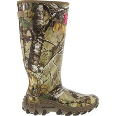 Under Armour Womens Realtree Camo HawMadillo Rubber Boot