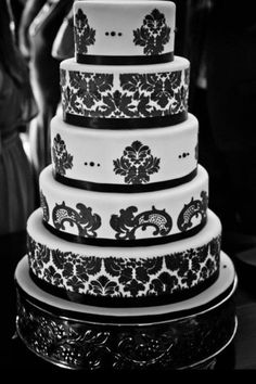 cake damask by 10063sugar on pinterest damasks wedding cakes and fondant. Black Bedroom Furniture Sets. Home Design Ideas