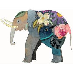 Archival quality print of one of my watercolor illustrations. It was printed on acid free 6 x 300 grs. watercolor paper with an Epson Art And Illustration, Illustrations, Watercolor Illustration, Elephant Illustration, Tattoo Watercolor, Watercolor Paper, Image Elephant, Elephant Love, Elephant Art