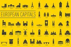 European Capital Landmarks by bhj on Creative Market