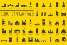 European Capital Landmarks by bhj on Creative Market