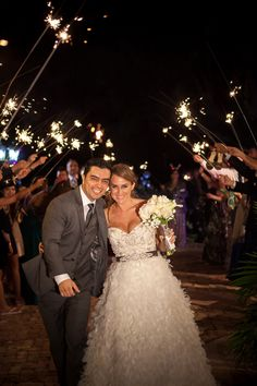 Modern Purple and Teal Florida Wedding