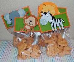 Baby Shower Favors Safari Treat Bags 70 New Ideas Baby Shower Favors, Shower Party, Baby Shower Parties, Baby Shower Themes, Baby Boy Shower, Baby Showers, Party Animals, Safari Animals, Animal Party