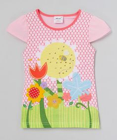 Love this Pink Floral Tee - Infant, Toddler & Girls on #zulily! #zulilyfinds