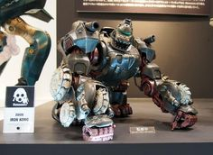 Zoids Iron Kong painted prototype on our display at Winter Wondefest in Japan  #threezero #Wonderfest #Japan
