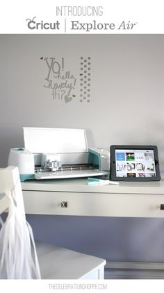 My Office, My Cricut Explore Air, My New Found Freedom To Create On The Go | @kimbyers  #cricuteverywhere