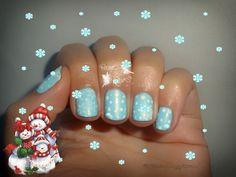 snow nail art 525 Metallic pastel blue MoYou London Mother nature 14 MoYou London Festive 06 blue nails