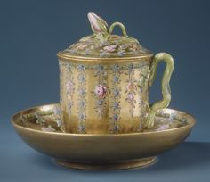 Imperial Porcelain Manufactory, St. Petersburg | Cup with cover and saucer | Russian, St. Petersburg | The Metropolitan Museum of Art