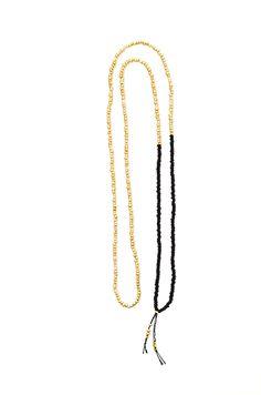 many golden beads