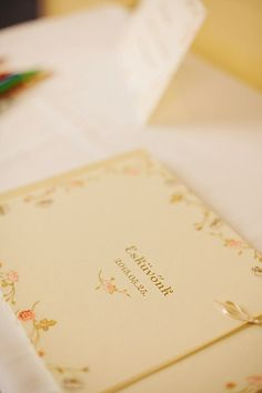 Wedding Book With Flowers