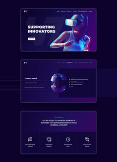 VTT Solutions is an Australian VR & AR company that collaborates with exceptional tech companies. Banner Design Inspiration, Web Banner Design, Mobile Ui Design, Ui Ux Design, Identity Design, Graphic Design Tips, Graphic Design Posters, Technology Design, Digital Technology