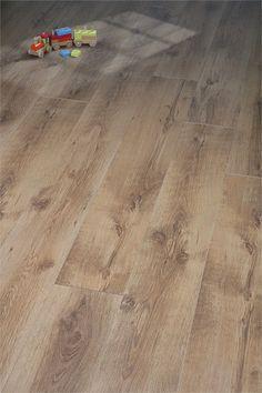 Rustic Oak: We love the authentic, antique-y look of this floor! Oak Laminate Flooring, Hardwood Floors, Tile Floor, Rustic, Antiques, Crafts, Lounge, Design, Wood Floor Tiles