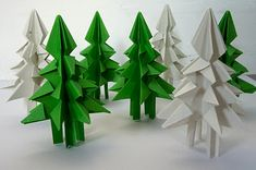 Tutorial - these are cool - one sheet of paper makes one tree!