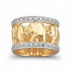 Elephant Ring, Diamond Accent