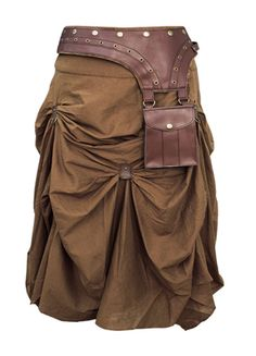 Check out this item on The Violet Vixen Burnished Empire Steampunk Brown Skirt #thevioletvixen
