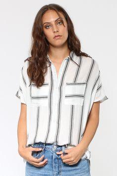 Mila Short Sleeve Woven Top
