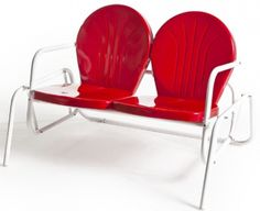 vintage style glider....I must have this...gotta, really must to match the red with white chairs<3
