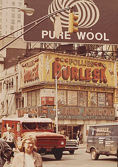 1960s Times Square Vintage Billboards HOJO Howard Johnsons Burlesk Follies