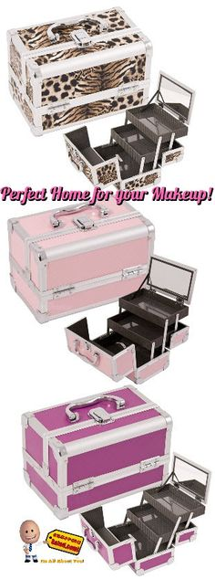 b2246a1211 These Makeup Train Cases have a high quality aluminum finish and  construction
