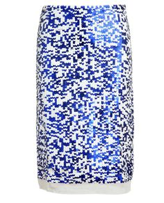 ILLES A PAPA Sequin Embellished Pencil Skirt - love the pixelated look.