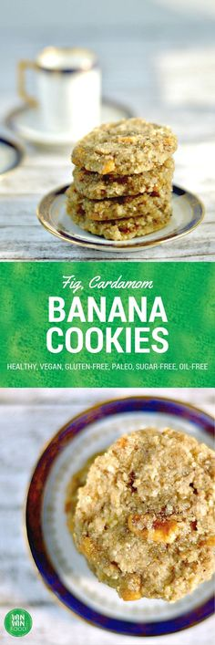 Banana Cookies With Figs and Cardamom(dehydrate instead of baking for raw version!!!)