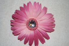 Dark and Light Pink Flower Hair Clip by MariasBowTique on Etsy, $2.50